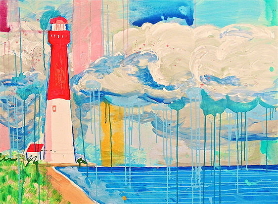 Watercolor Light House Painting