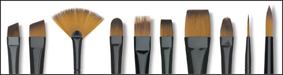 Collection Of Acrylic Paint Brushes