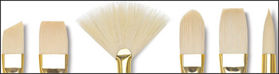 Paint Brush Shapes And Sizes