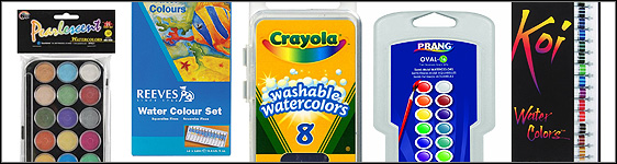 Variety Of Watercolor Paints