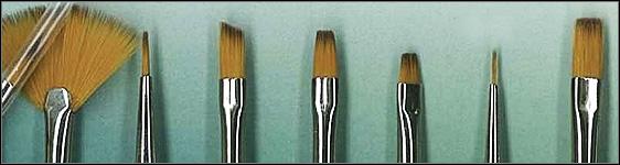 Watercolor Paint Brush Shapes